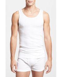 9594f93b2b7b14 Lyst - Calvin Klein Underwear Cotton Classic Fit 3 Pack Ribbed Tank ...