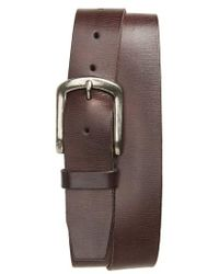 John Varvatos - Classic Leather Belt - Lyst