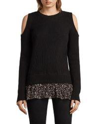 AllSaints - Pepper Cold Shoulder Sweater - Lyst