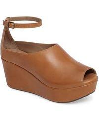 Chocolat Blu - Walter Ankle Strap Wedge Sandal - Lyst