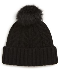 UGG - Ugg Pompom Cable Genuine Shearling Beanie - Lyst