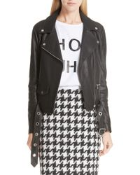 HUGO - Limari Leather Jacket - Lyst