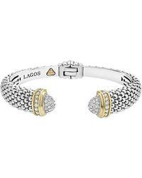 Lagos - Caviar Diamond Wrist Cuff - Lyst