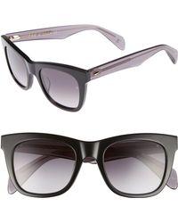 a52d8f2752c78 Lyst - Rag   Bone 61mm Cat Eye Sunglasses in Black