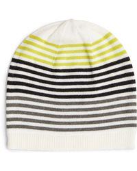 Eileen Fisher - Stripe Wool Beanie - Lyst