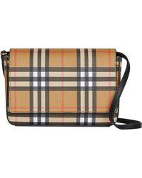 Burberry - Hampshire Vintage Check Crossbody Bag - - Lyst