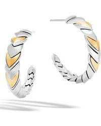 John Hardy - Legends Naga Hoop Earrings - Lyst