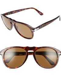 d45ab37c4a Persol Folding Keyhole Sunglasses in Red for Men - Lyst