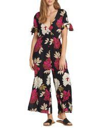 Billabong - Night Conjurer Floral Print Jumpsuit - Lyst