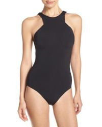 Seafolly - High Neck One-piece Swimsuit - Lyst