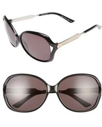 Gucci - 60mm Open Temple Oval Sunglasses - Lyst