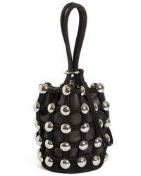Alexander Wang | Mini Roxy Studded Cage Leather Bucket Bag | Lyst