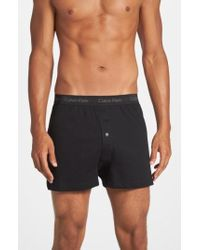 CALVIN KLEIN 205W39NYC - 3-pack Cotton Boxers, Grey - Lyst