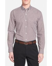 Cutter & Buck | 'epic Easy Care' Classic Fit Wrinkle Free Gingham Sport Shirt | Lyst