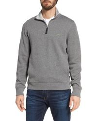 Lacoste   Quarter Zip Cotton Interlock Sweatshirt   Lyst