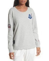 Soft Joie - Rikke B Applique Sweatshirt - Lyst
