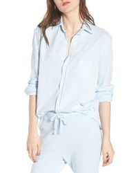 Frank & Eileen - Knit Button Front Shirt - Lyst