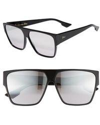 Dior - 62mm Flat Top Square Sunglasses - - Lyst