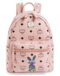 MCM - Rabbit Mini Coated Canvas Backpack - Lyst