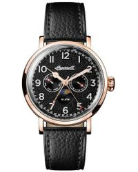 INGERSOLL WATCHES | Ingersoll St. John Moonphase Leather Strap Watch | Lyst