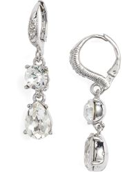 Givenchy - Small Crystal Drop Earrings - Lyst