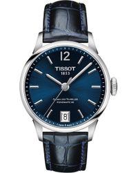 Tissot - Chemin Des Tourelles Powermatic 80 Lady Leather Strap Watch - Lyst