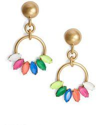 Loren Hope | Edie Crystal Hoop Drop Earrings | Lyst