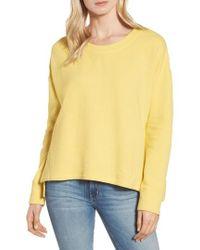 Caslon - Caslon Side Slit Relaxed Sweatshirt - Lyst