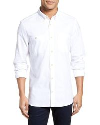 French Connection - Regular Fit Overwash Oxford Sports Shirt - Lyst