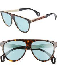 9ba884477eb Lyst - Saint Laurent Ivory Sl 98 California Sunglasses in White for Men