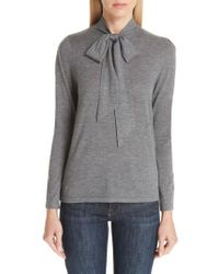 Co. - Tie Neck Cashmere Sweater - Lyst