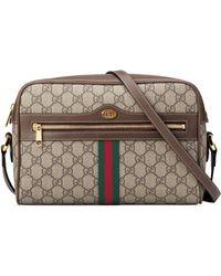 c06df8f21473 Gucci - Ophidia Gg Supreme Canvas Crossbody Bag - Lyst