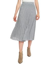1.STATE - Pleated Midi Skirt - Lyst