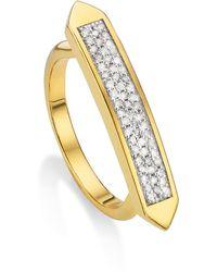 Monica Vinader - Baja Skinny Diamond Stacking Ring - Lyst
