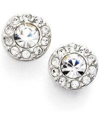 Givenchy - Small Crystal Stud Earrings - Lyst