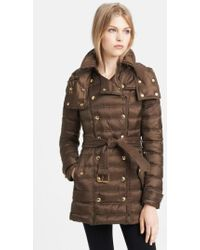 Burberry Brit - 'valestead' Goose Down Coat - Lyst