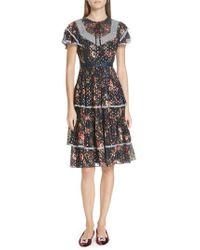 Needle & Thread - Winter Forest Dress - Lyst