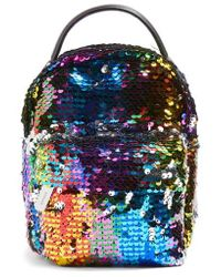 TOPSHOP | Funky Sequin Mini Backpack | Lyst