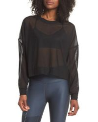 Alo Yoga - Ambiance Sheer Pullover - Lyst