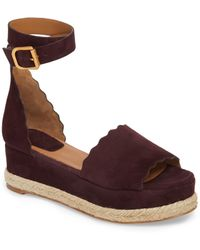 137caa94853 Chloé Lauren Espadrille Wedge Sandal in Brown - Lyst