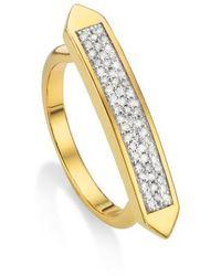 Monica Vinader | Baja Skinny Diamond Stacking Ring | Lyst