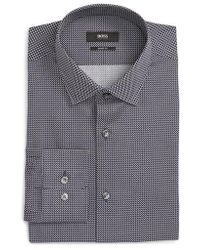 BOSS - Marley Sharp Fit Geometric Dress Shirt - Lyst