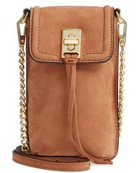 Rebecca Minkoff - Darren Leather Phone Crossbody Bag - Lyst
