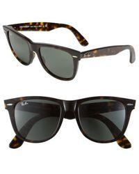 Ray-Ban - Large Classic Wayfarer 54mm Sunglasses - Dark Tortoise - Lyst