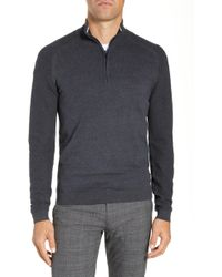 Ted Baker - Just Run Trim Fit Funnel Neck Pullover - Lyst