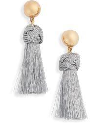 J.Crew - Ball & Tassel Earrings - Lyst