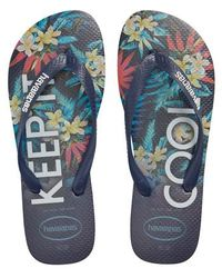 3830d61a1 Lyst - Havaianas Top Tropical Flip Flops in Blue