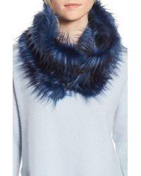 Heurueh - Buckled Faux Fur Cowl Scarf - Lyst