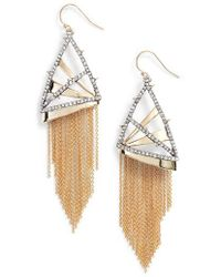 Alexis Bittar - Chain Fringe Earrings - Lyst