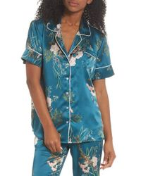 Maison Du Soir - Jenny Silk Pajama Top - Lyst